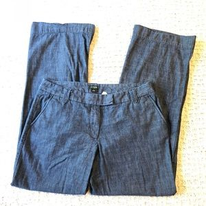 J. Crew Saturday Pant in Chambray City Fit Size 6